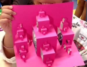 Fractale en papier, école d'Idron